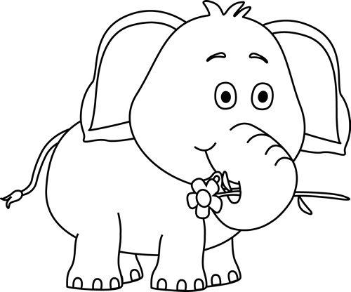 Free Black And White Elephants Download Free Clip Art Free Clip Art On Clipart Library