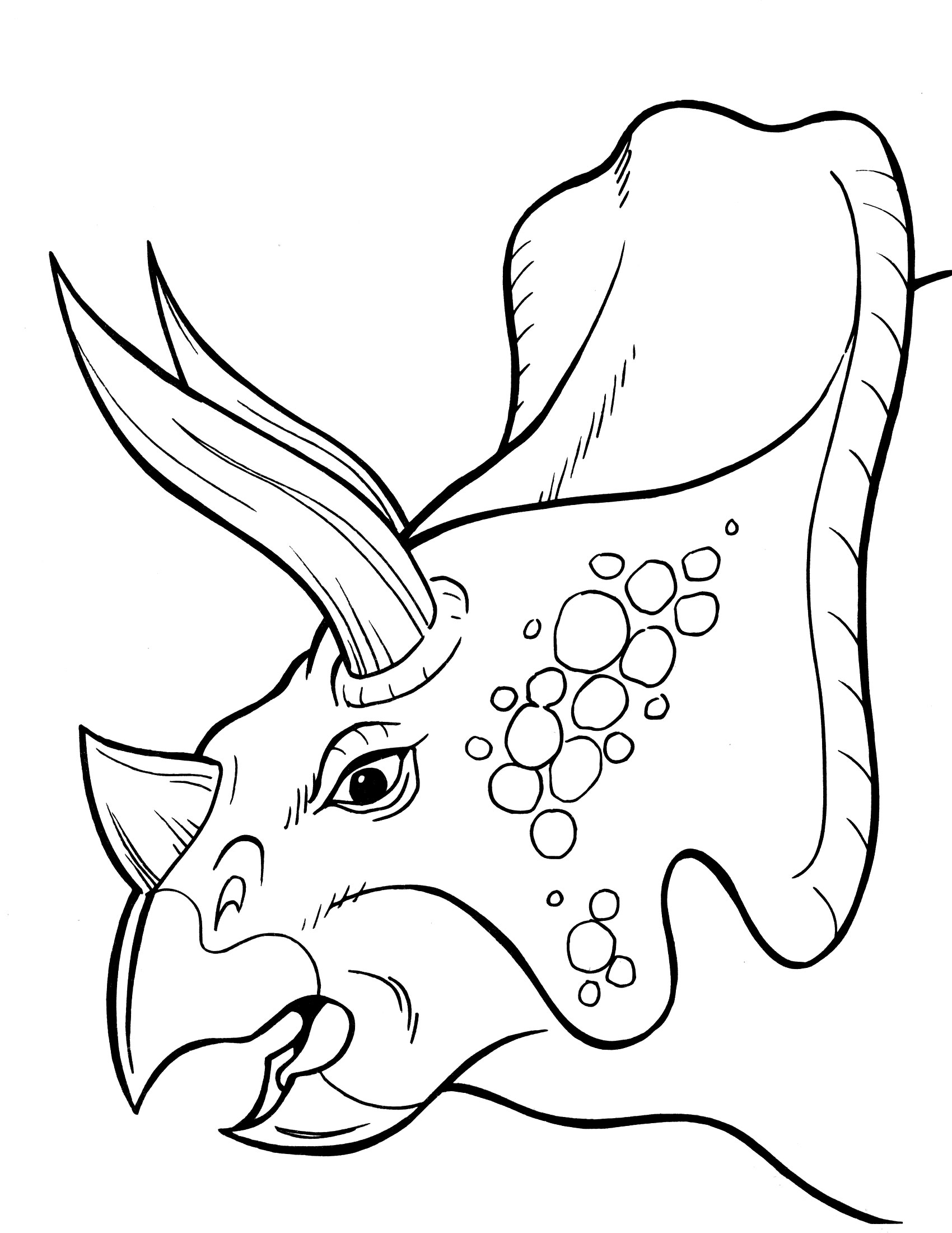 Dinosaur Say Goodnight Coloring Page Coloring Pages