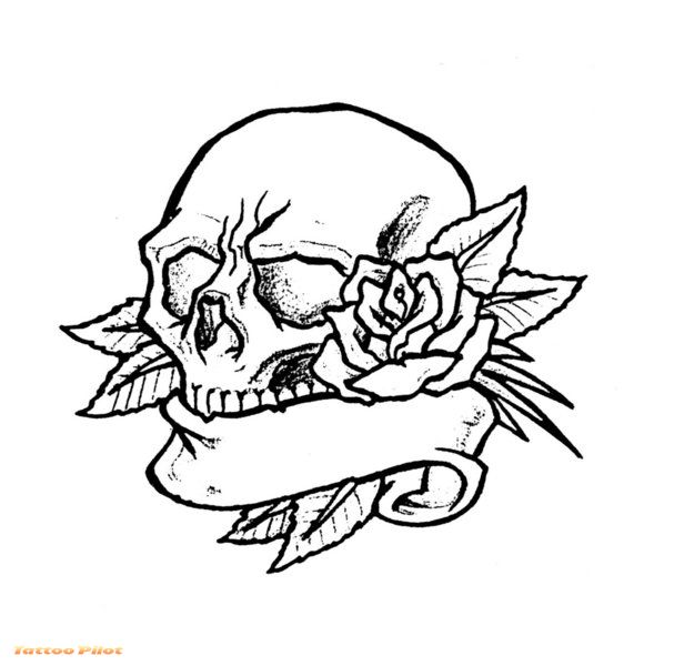 Free Skull Tattoo Stencils Download Free Clip Art Free Clip Art On Clipart Library
