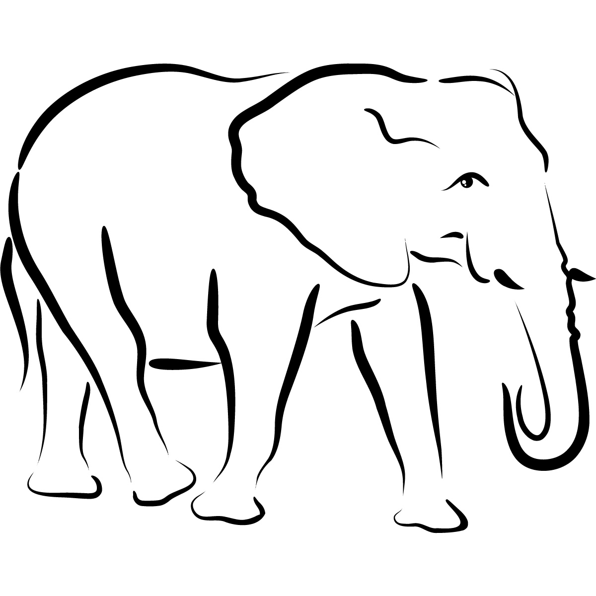 Free Outline Of Elephant Download Free Clip Art Free