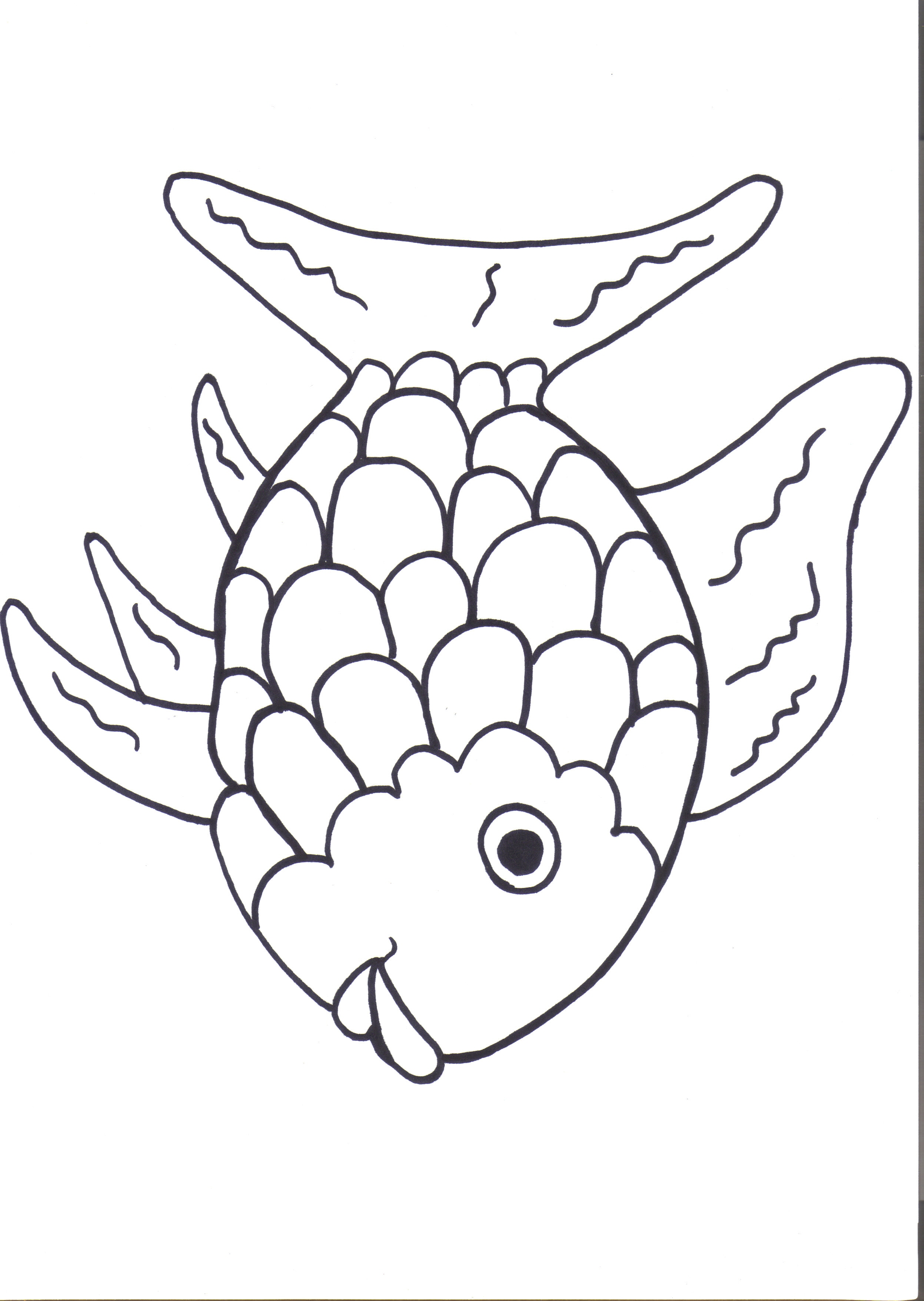 Rainbow Fish Coloring Page Free Large Images Clip Art Library