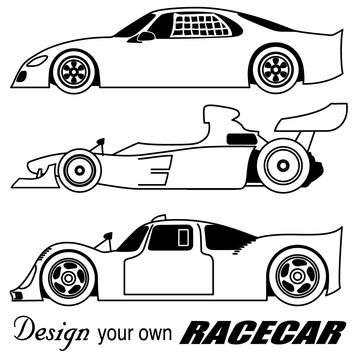 Free Cartoon Race Car Clip Art