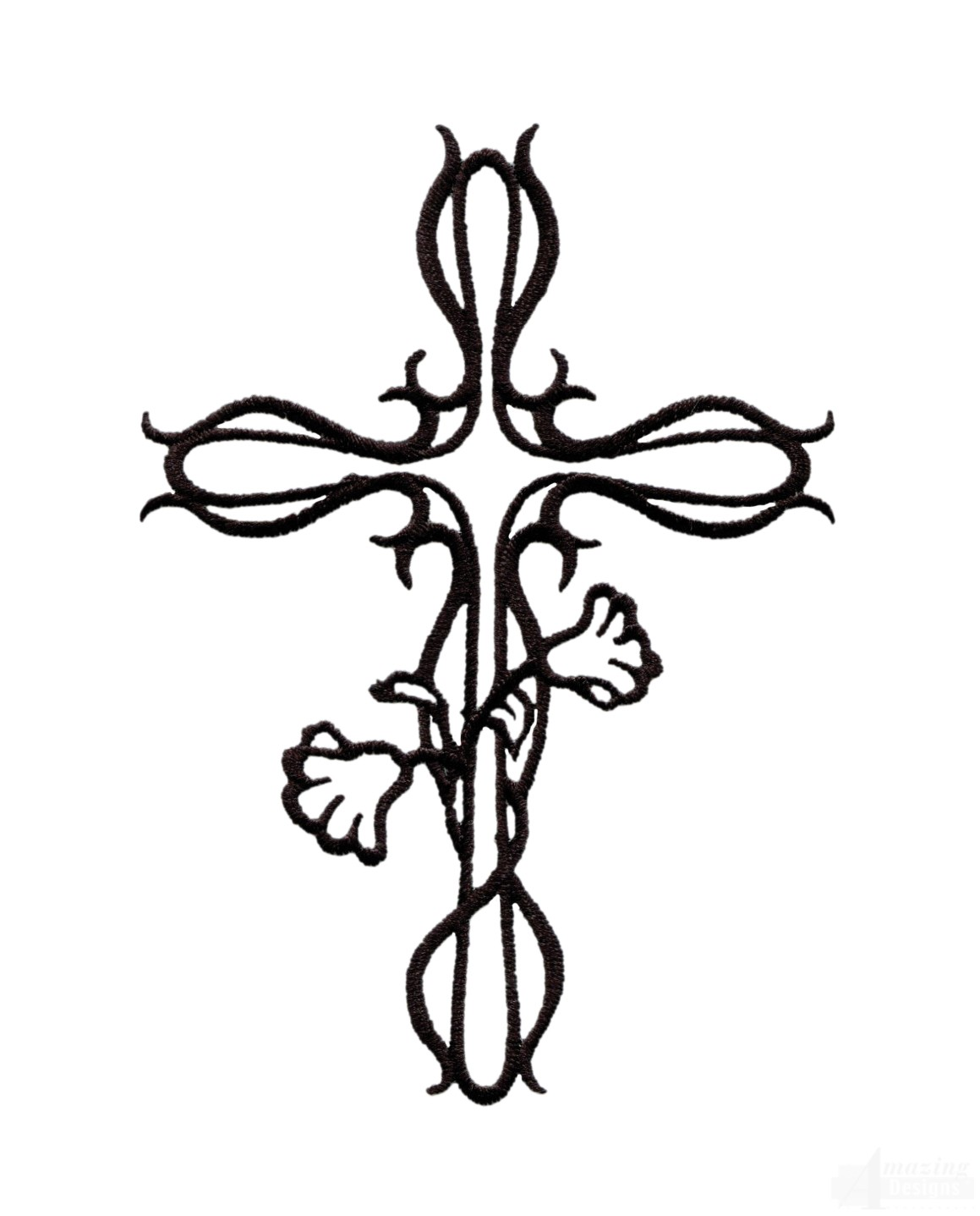 Easter Cross 1 Embroidery Design