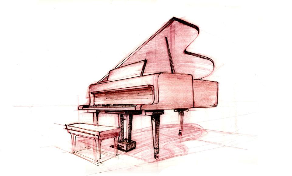 Upright Piano Cartoon