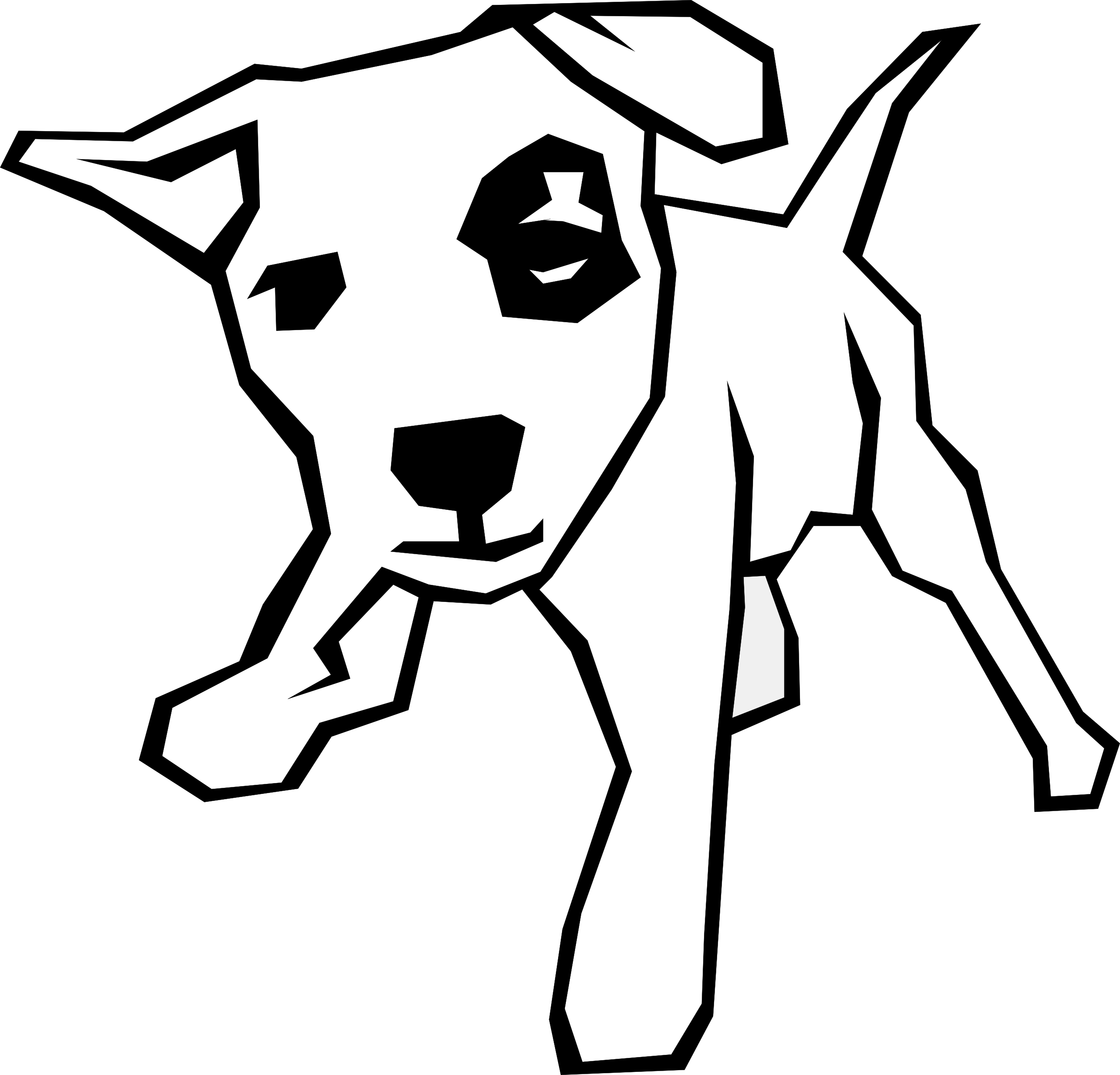 Line Drawings Of Dog