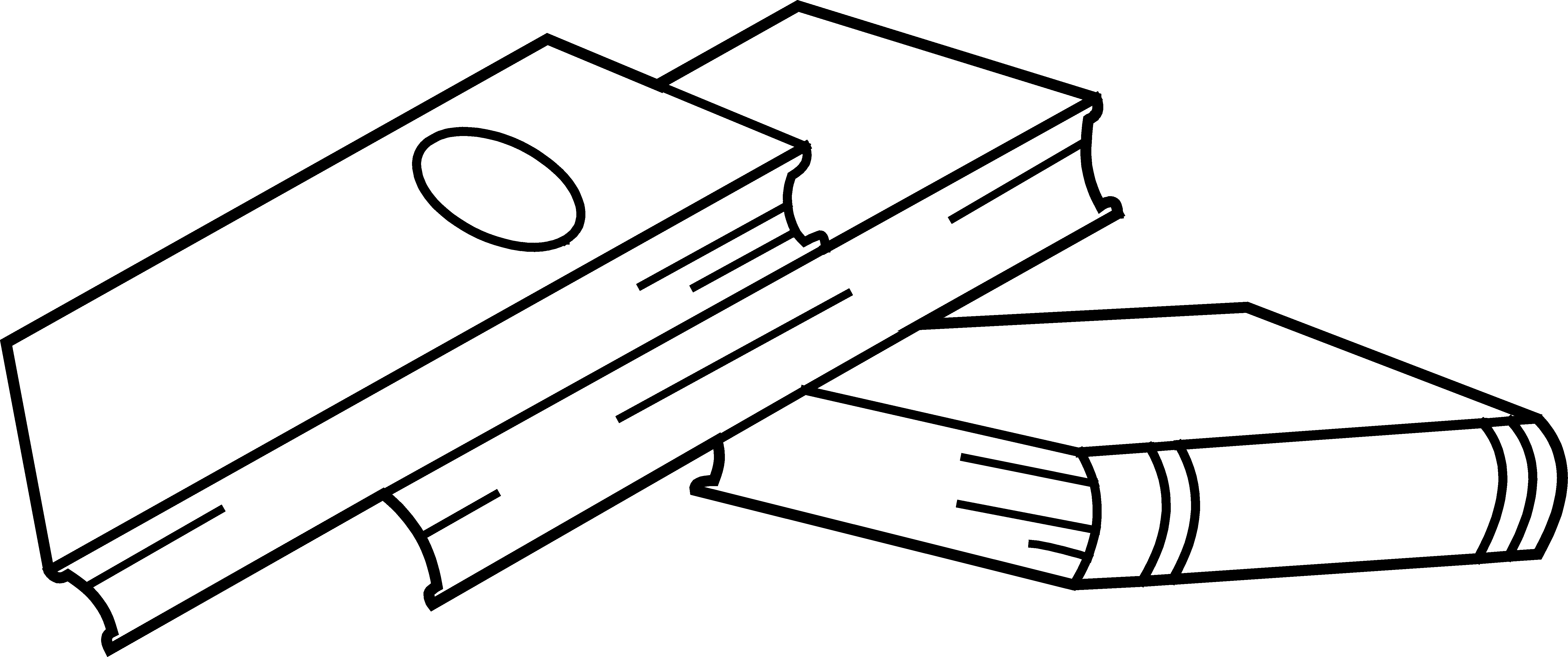 Open Book Clipart Black And White Clipart Library