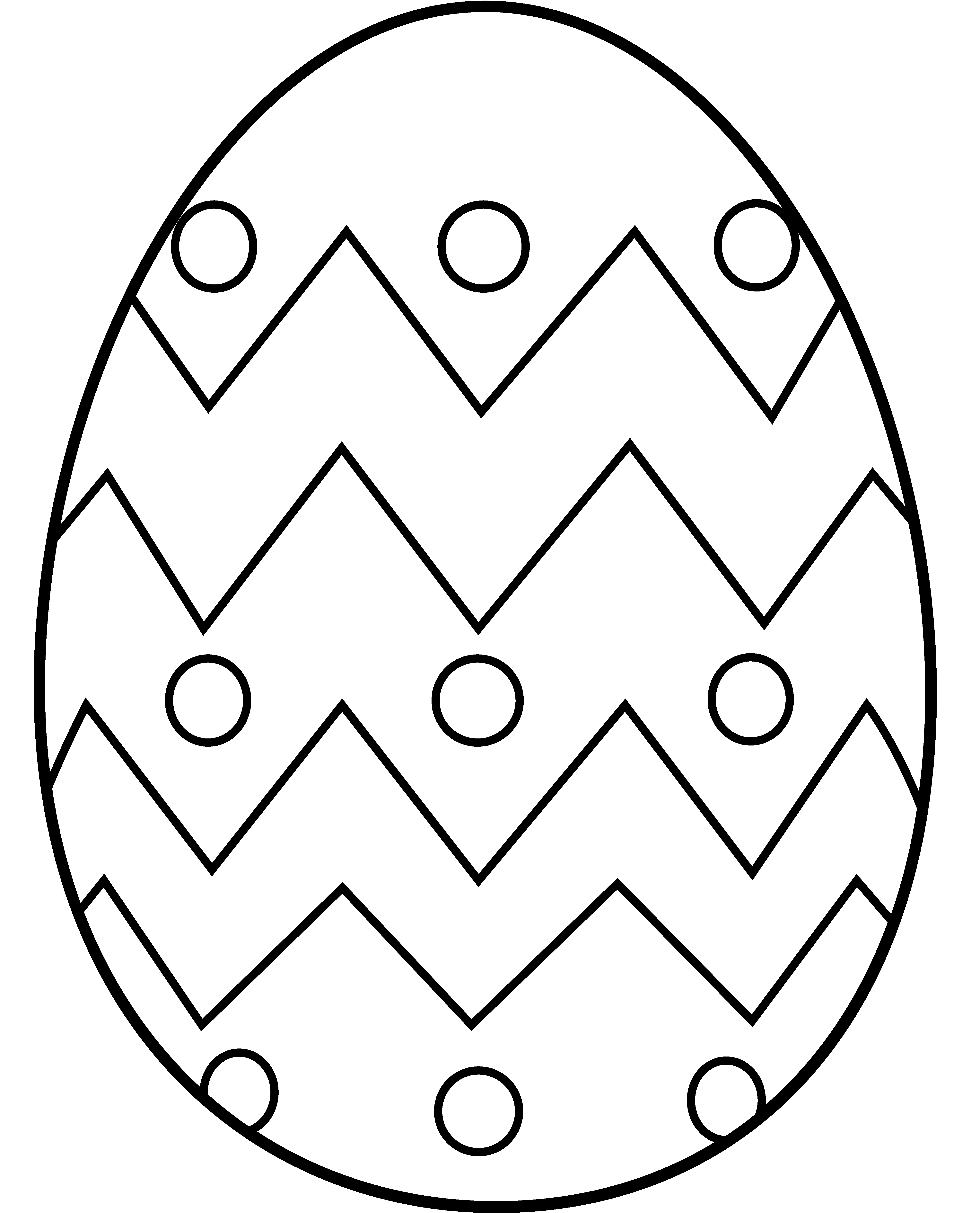 Easter Egg Clip Art Free Coloring Pages