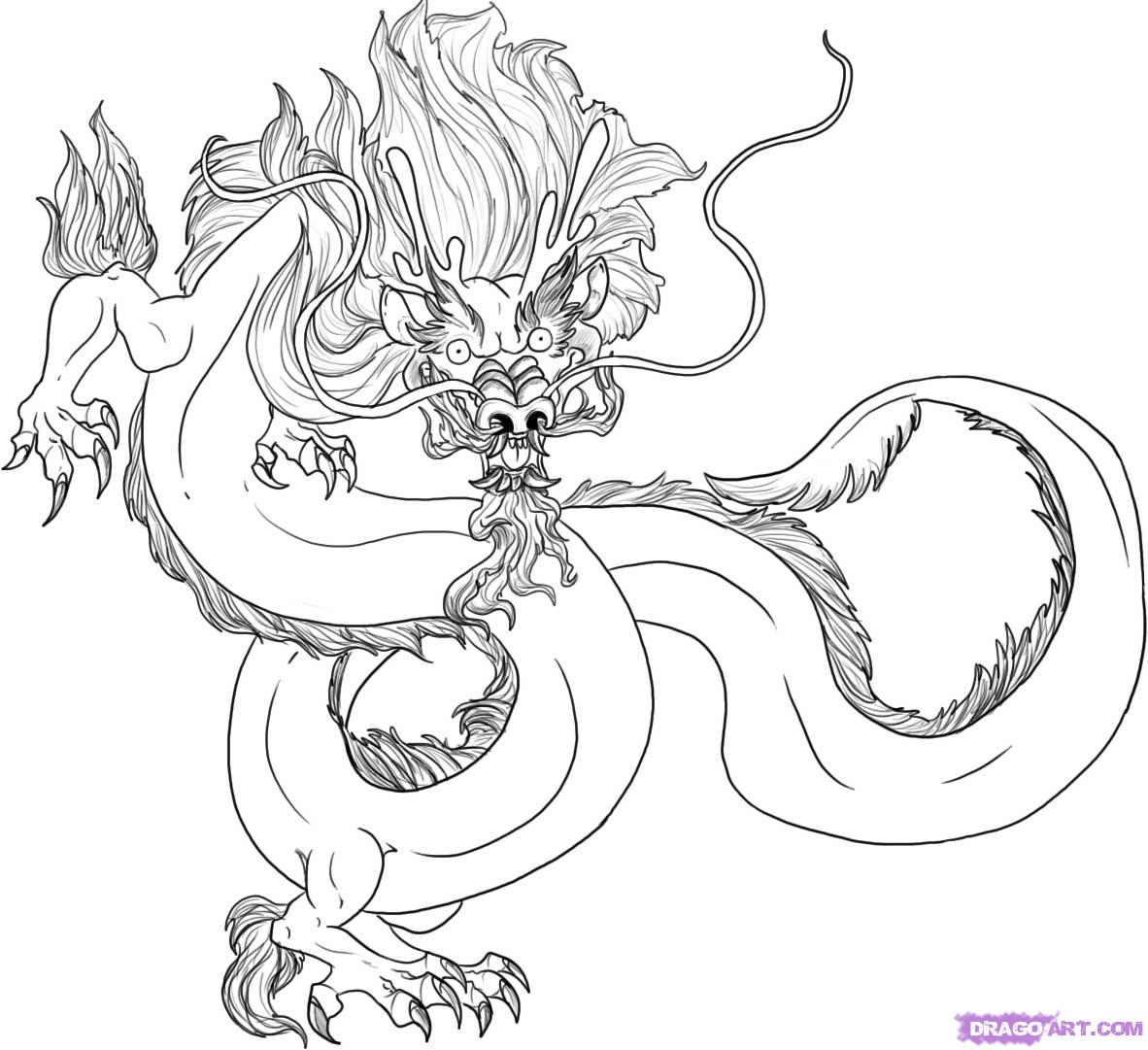 How To Draw A Traditional Chinese Dragon Step By Step