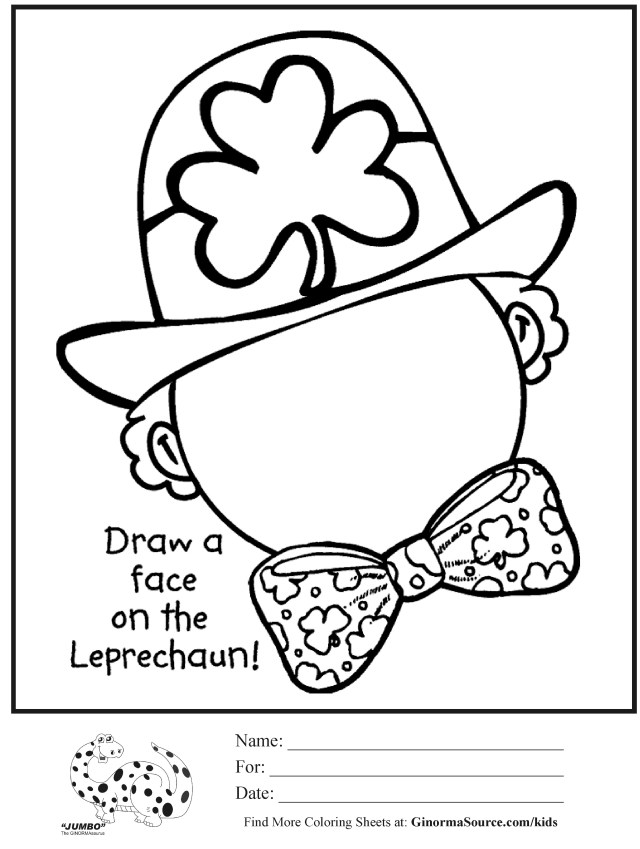 st patricks day easy coloring sheets - Clip Art Library