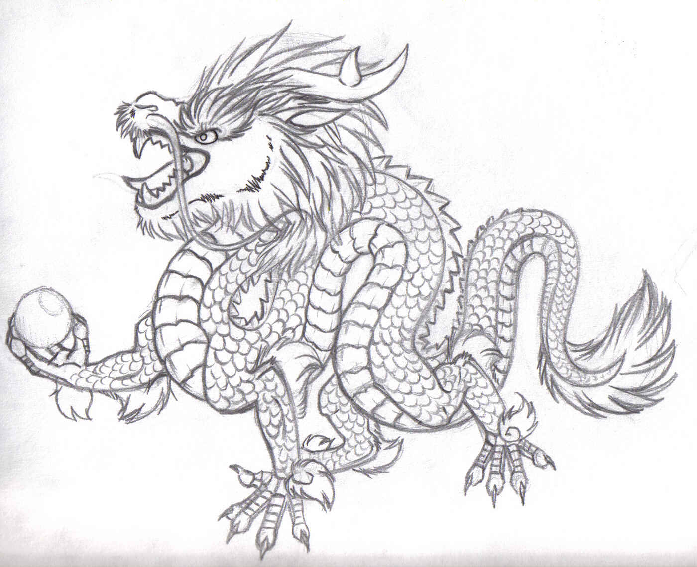 Free Chinese Dragon Drawing Download Free Clip Art Free