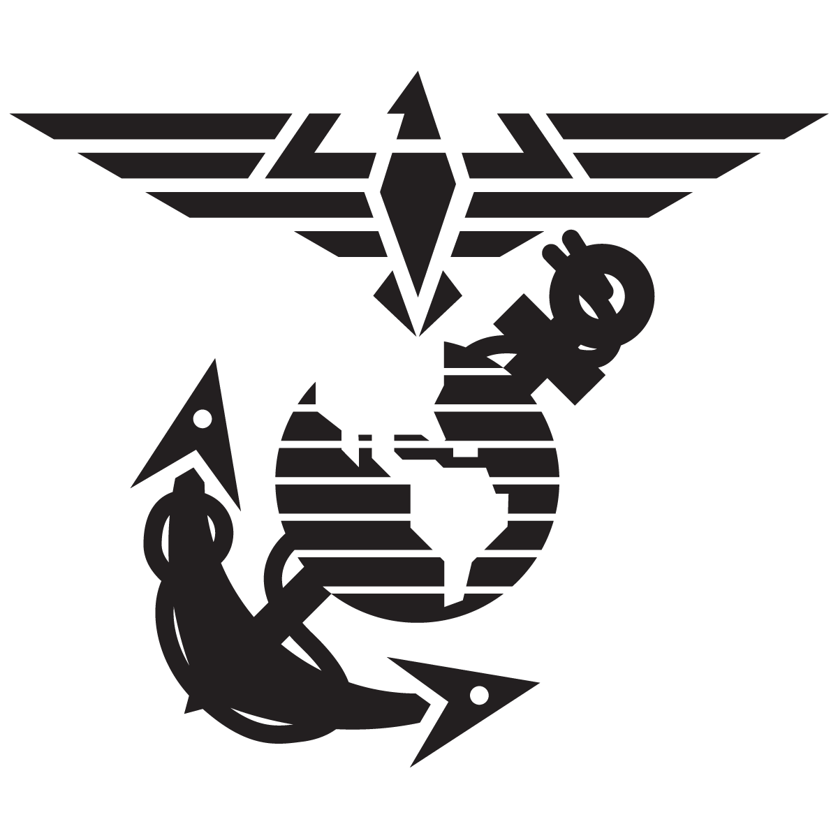 Eagle Globe And Anchor Emblem Contemporary Marine Corps
