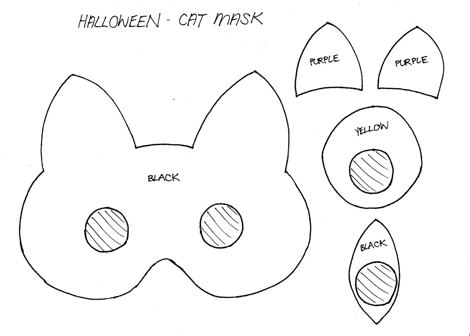 Stylenovice Diy Cat Mask Template