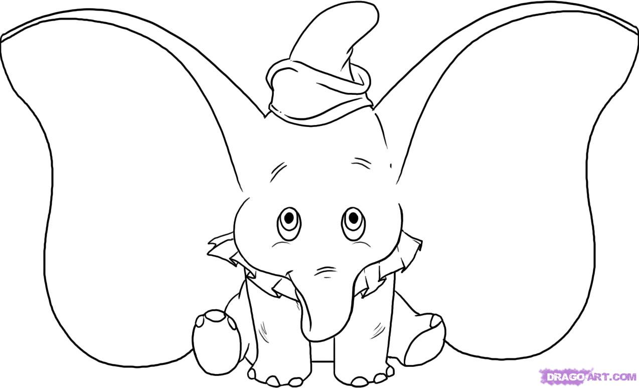 How To Draw Dumbo Step By Step Disney Characters