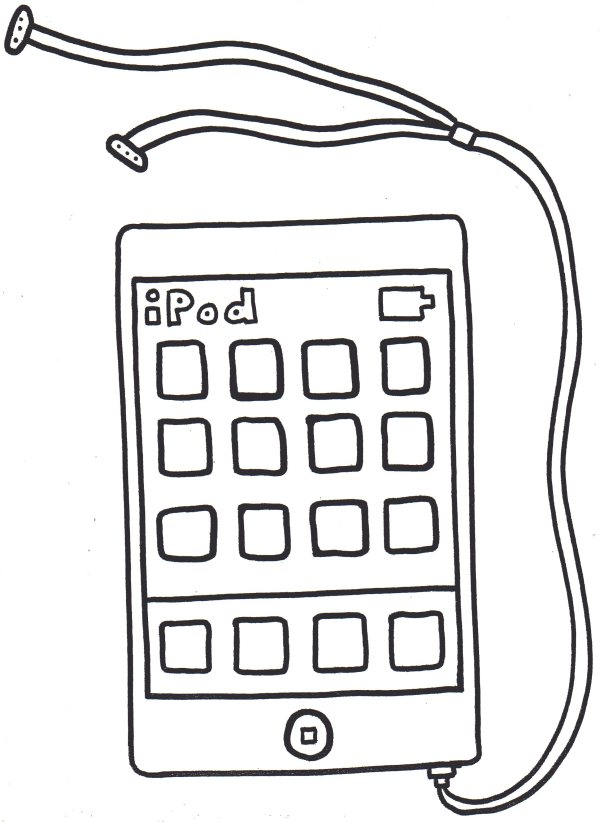 iphone coloring page # 15