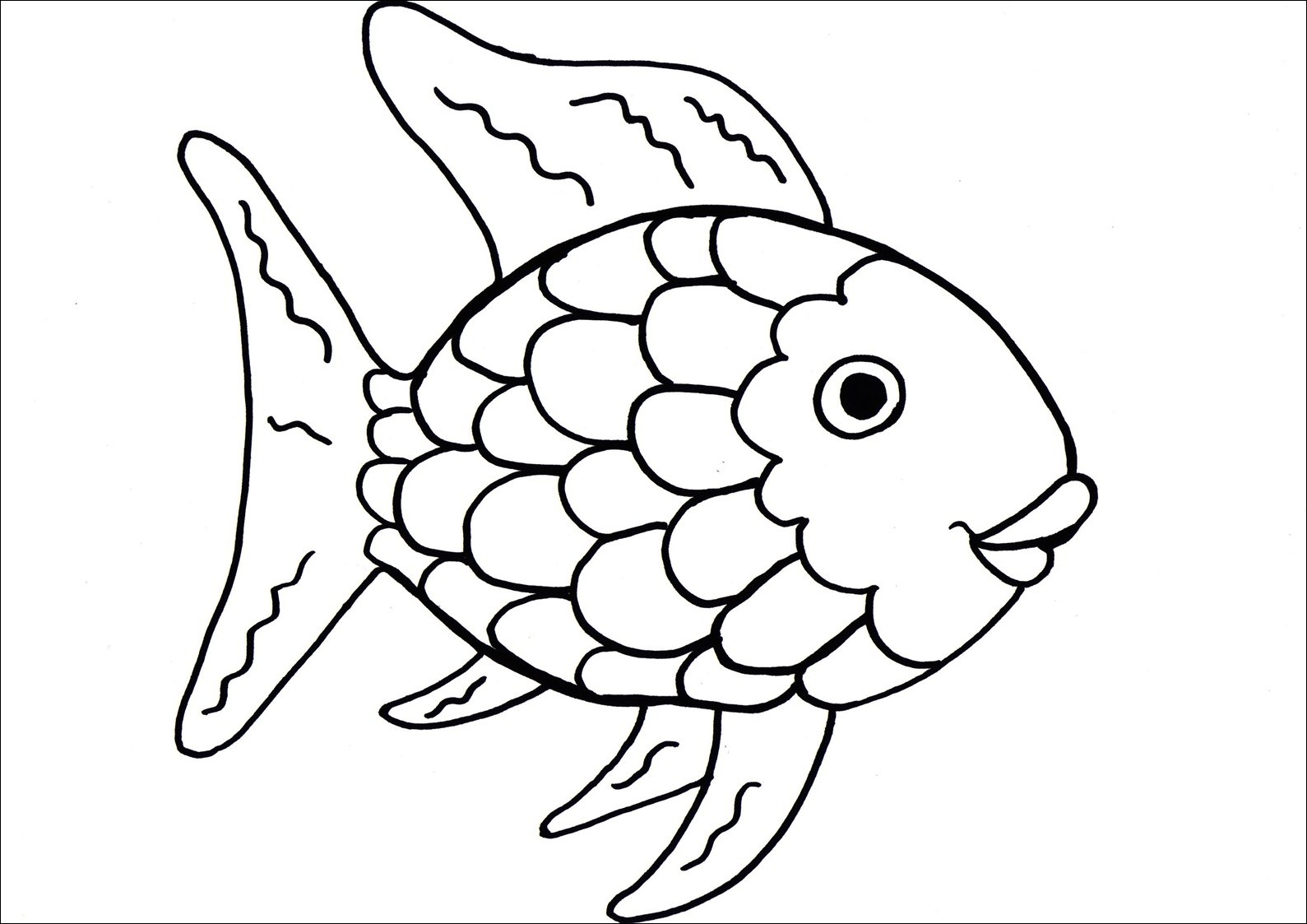 Free Rainbow Fish Template Download Free Clip Art Free