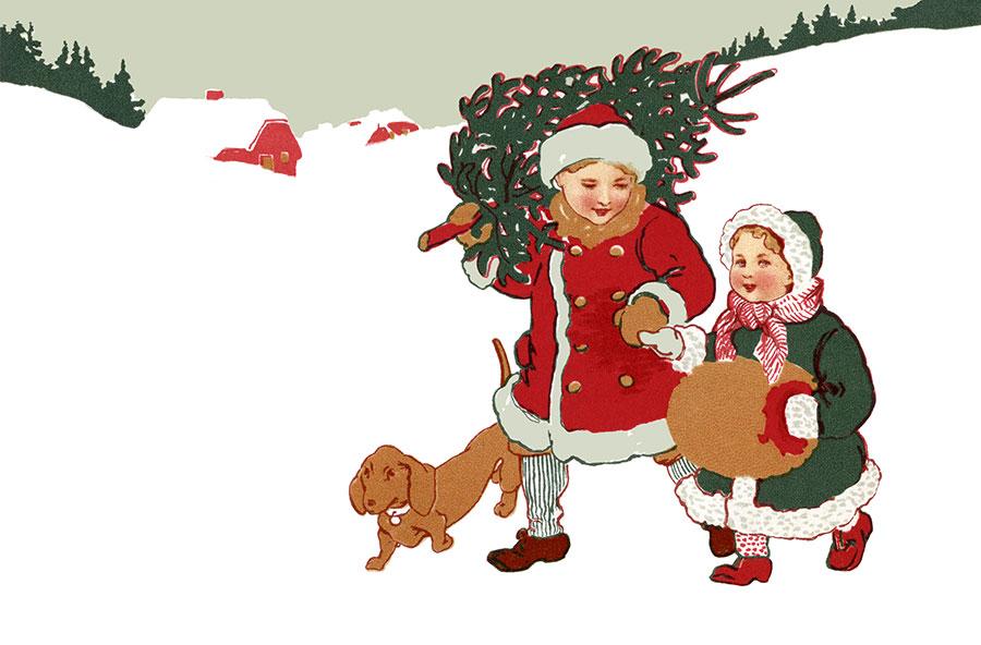 Free Vintage Christmas Illustration, Download Free Clip
