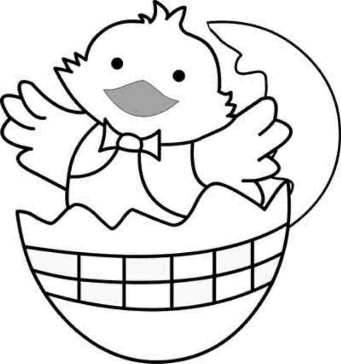 Trends For Easter Chick Coloring Page