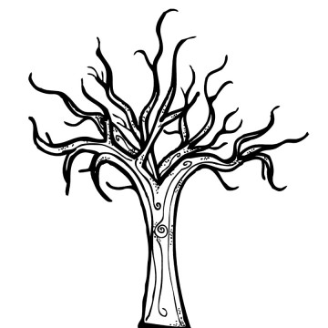bare tree coloring page # 8