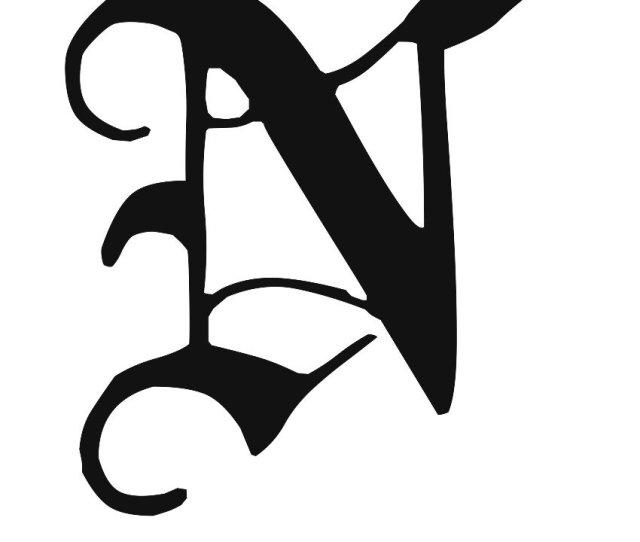 Calligraphy Alphabet N Alphabet N Calligraphy Sample Styles
