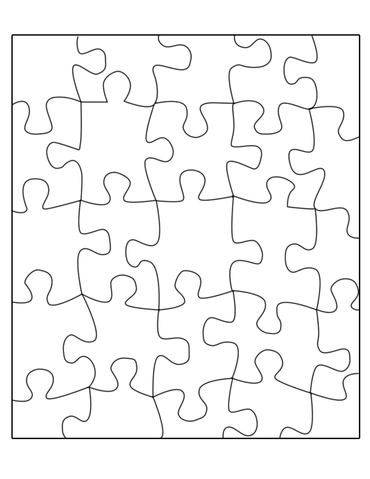 Free Jigsaw Puzzle Templates Printable And In Different