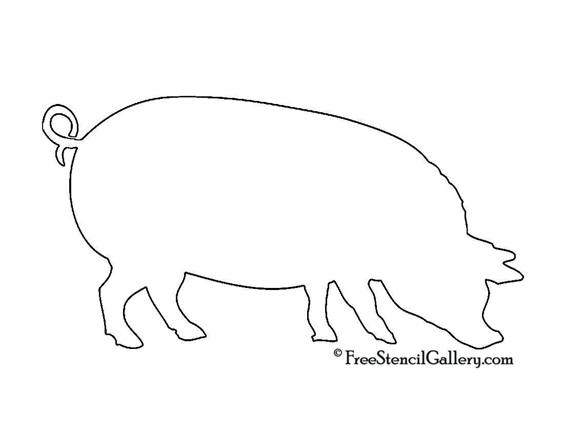 Pig Silhouette Stencil Free Stencil Gallery