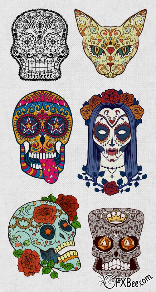 Free Creative Sugar Skulls Download Free Clip Art Free Clip Art On Clipart Library