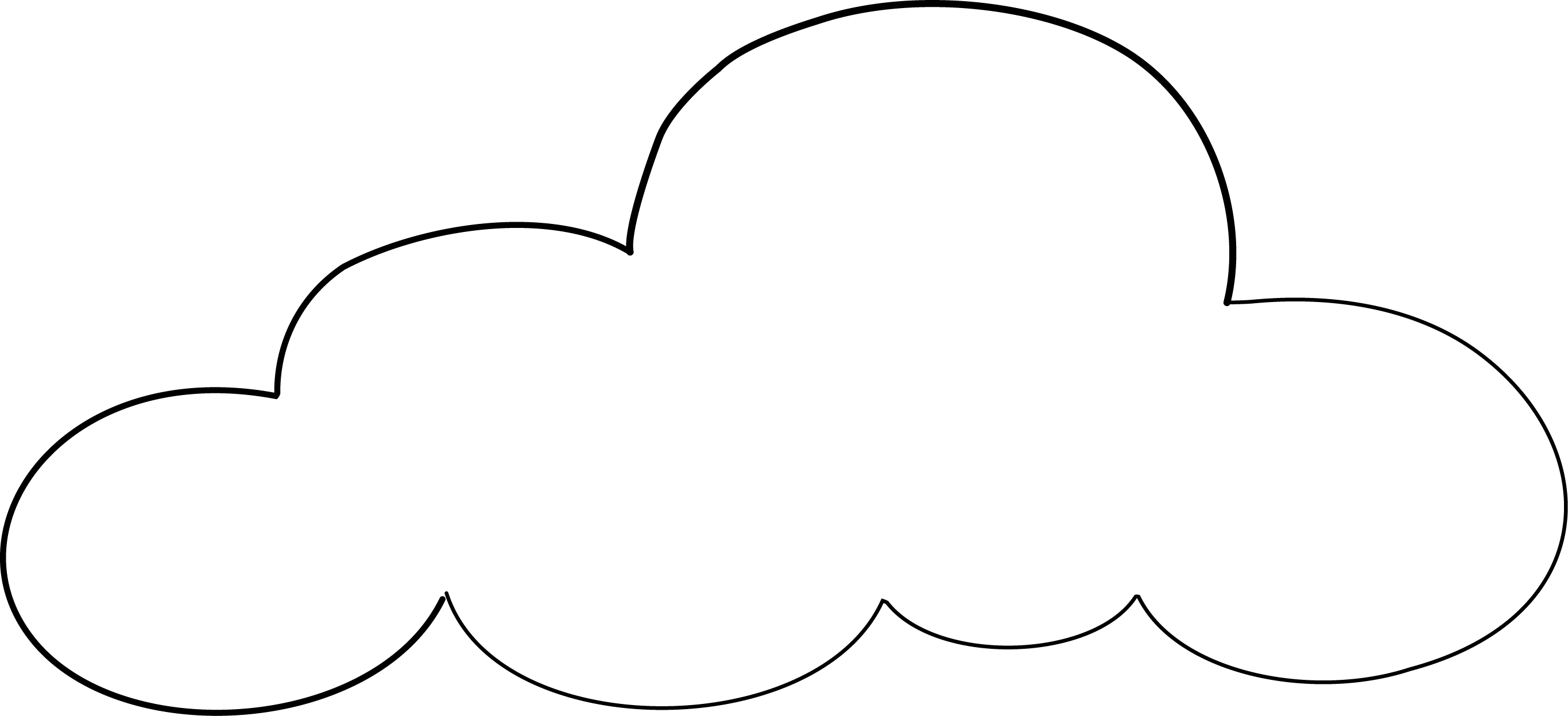 Free Printable Cloud Template Download Free Clip Art