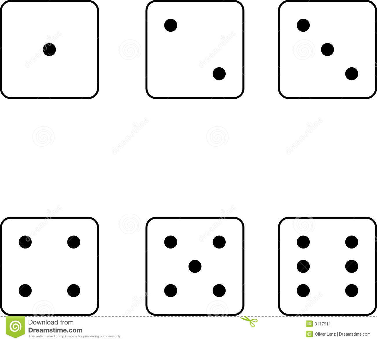 Dice Number On The Face