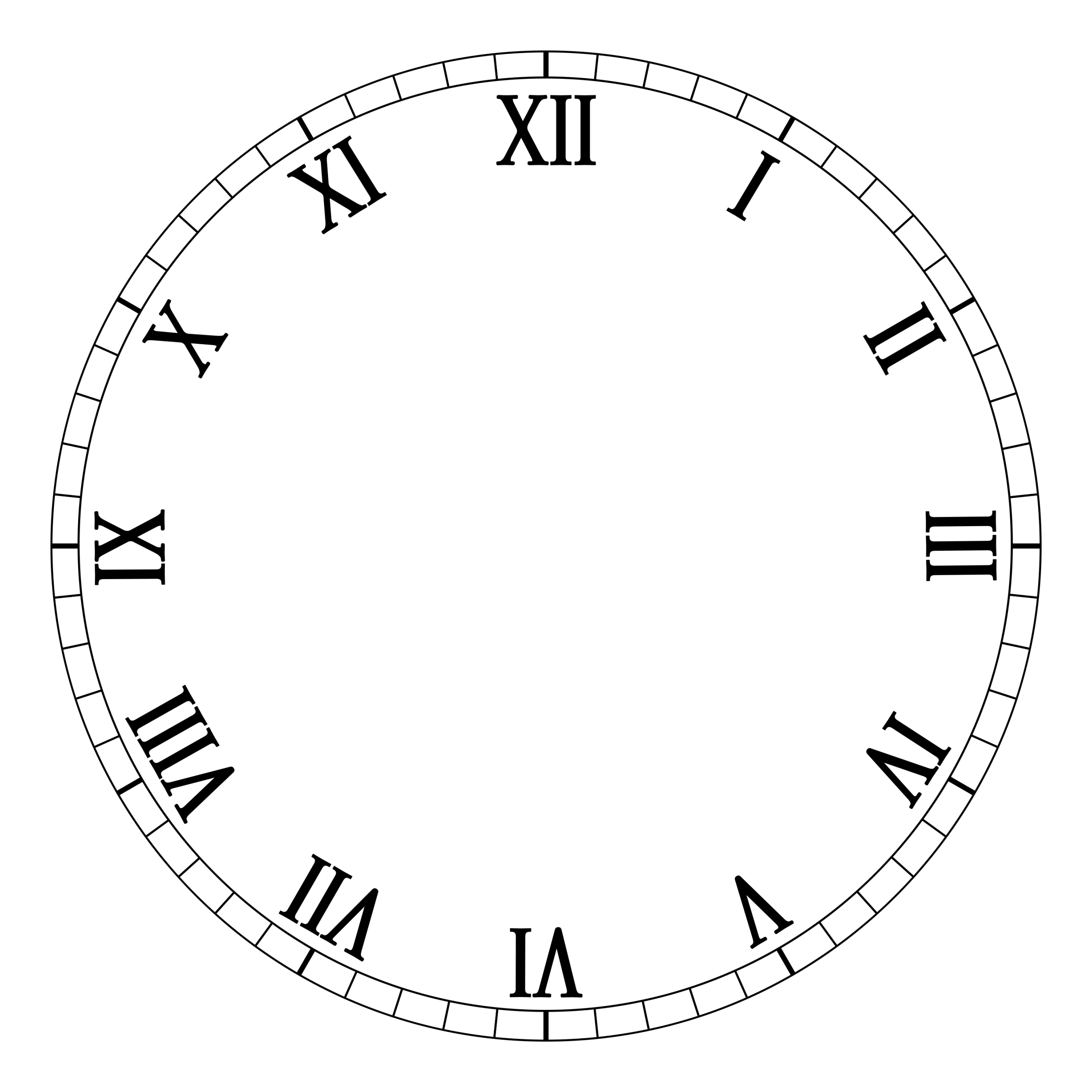 Free Printable Clock Face