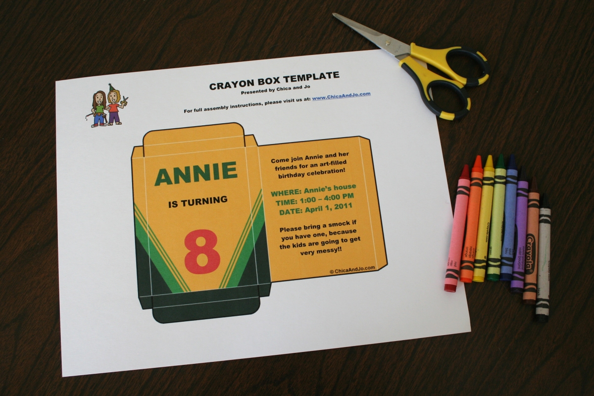 33 Crayola Crayon Label Template