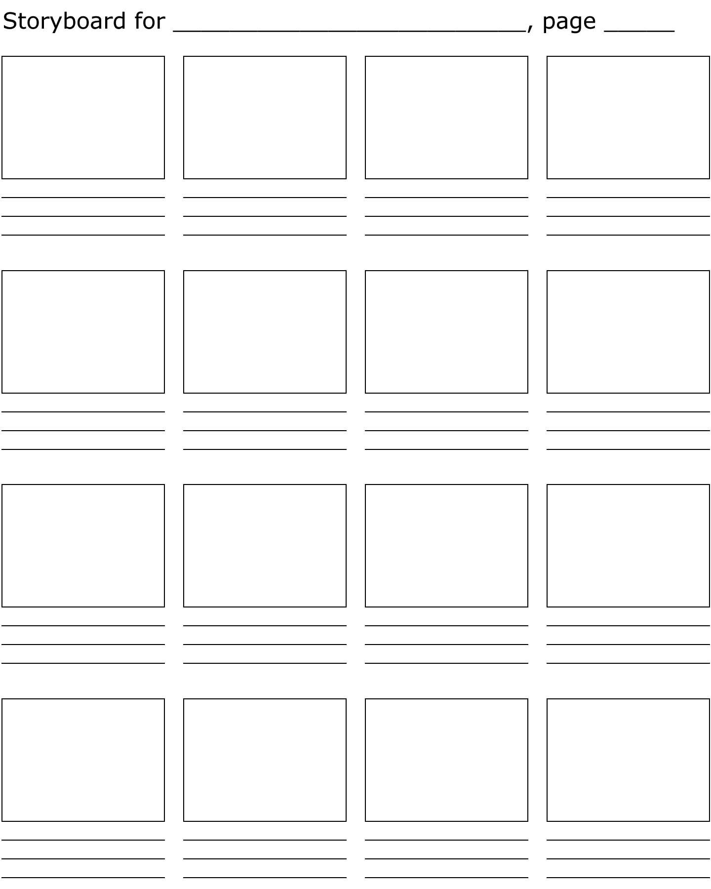 Free Storyboard Printable Download Free Clip Art Free