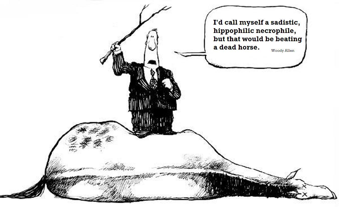 Cartoon Beating A Dead Horse