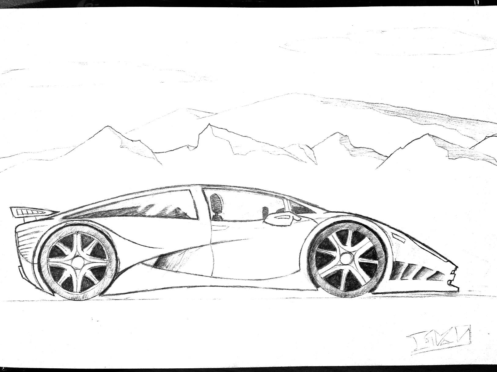 Sport Cars Drawings
