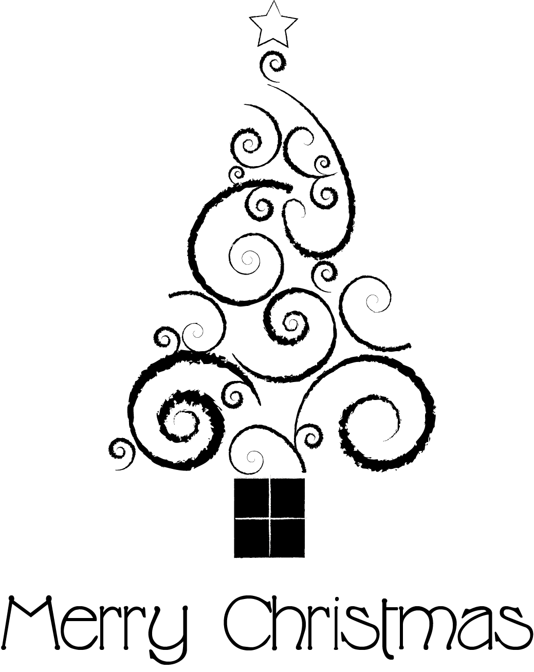 Free Christmas Tree Line Drawing Download Free Clip Art