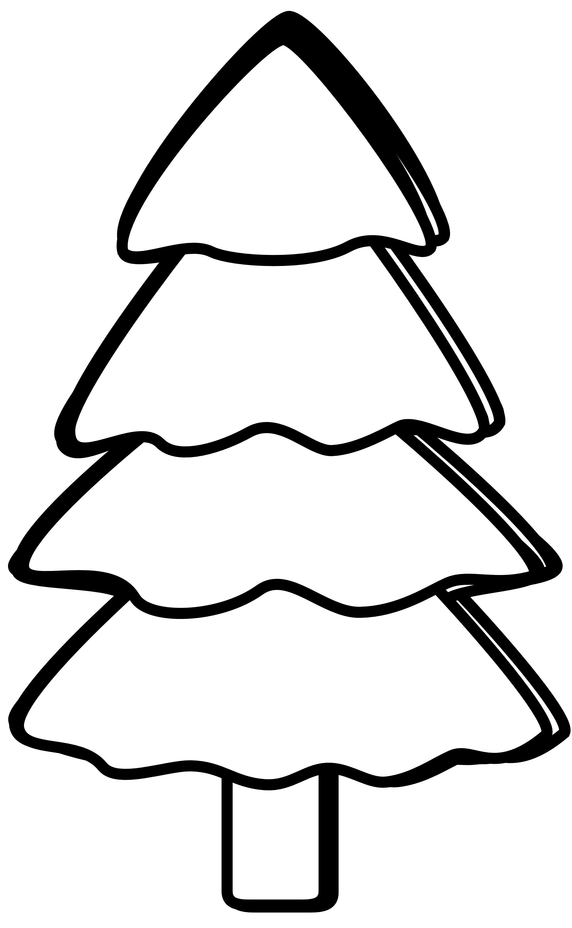 Black And White Trees Clipart Clipart Library