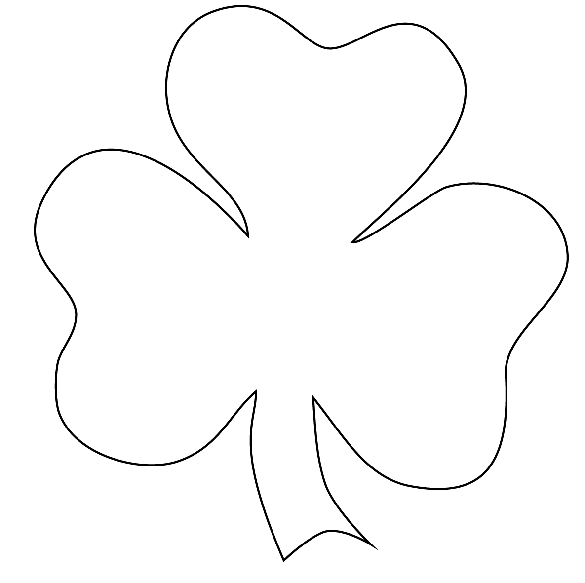 Free Shamrock Outline Download Free Clip Art Free Clip Art On Clipart Library