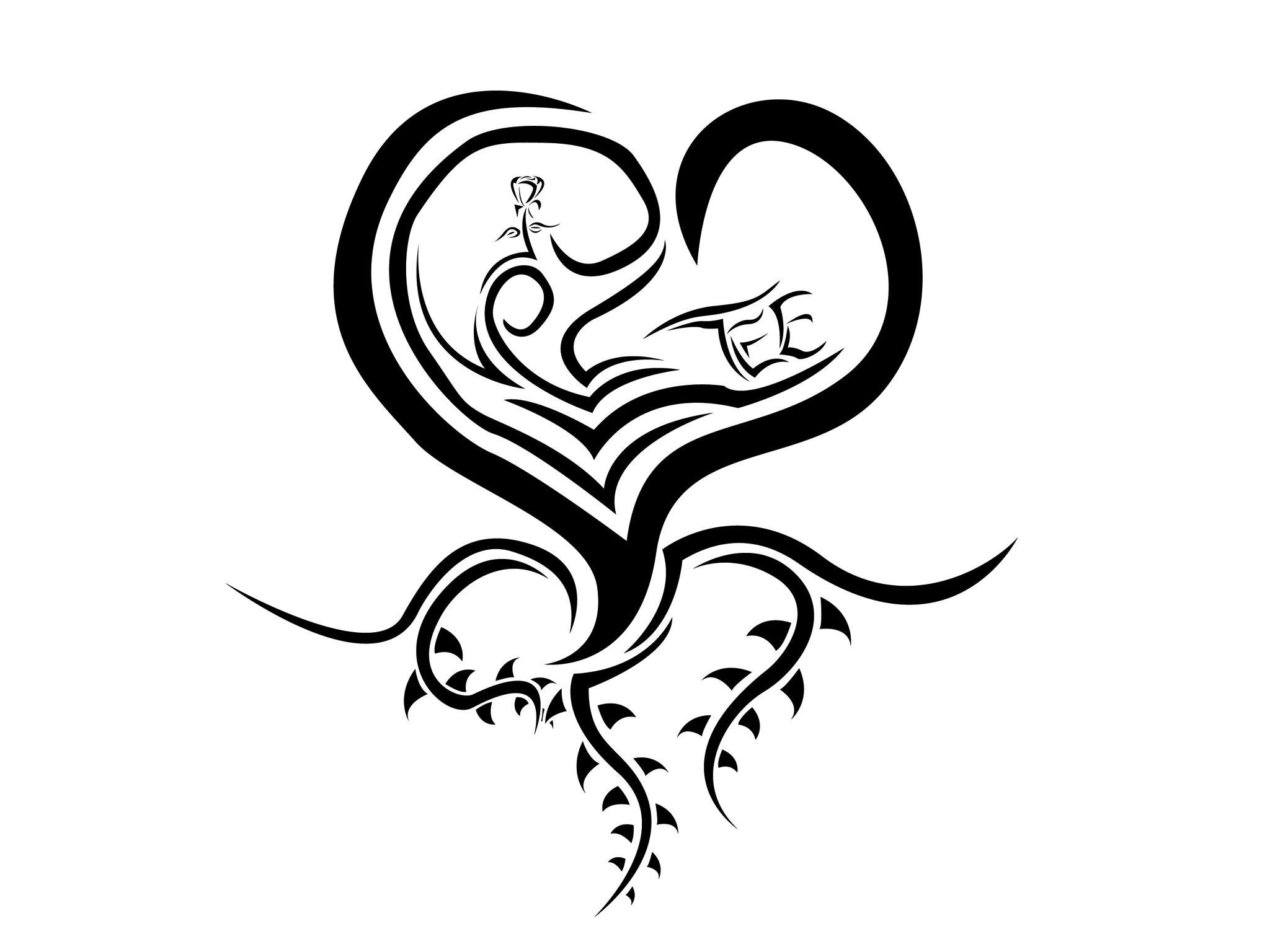 Curved Heart Tattoo Wallpaper X Px Free Download