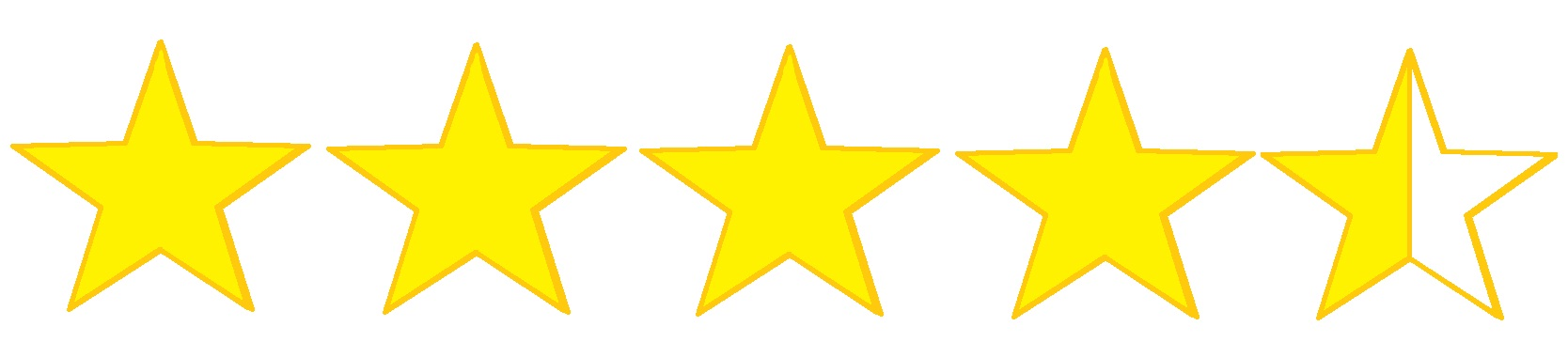 Image result for 4.5 stars out of five