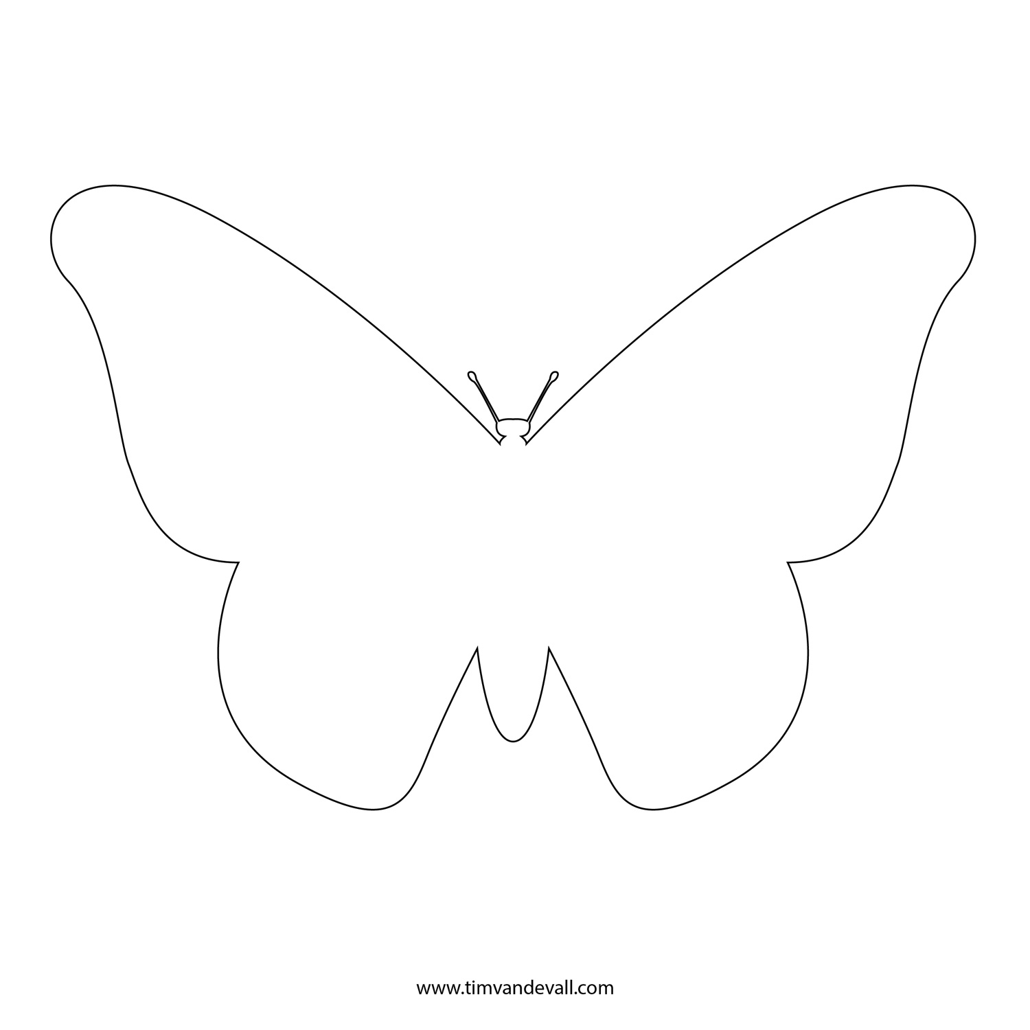 Free Butterfly Outline Download Free Clip Art Free Clip