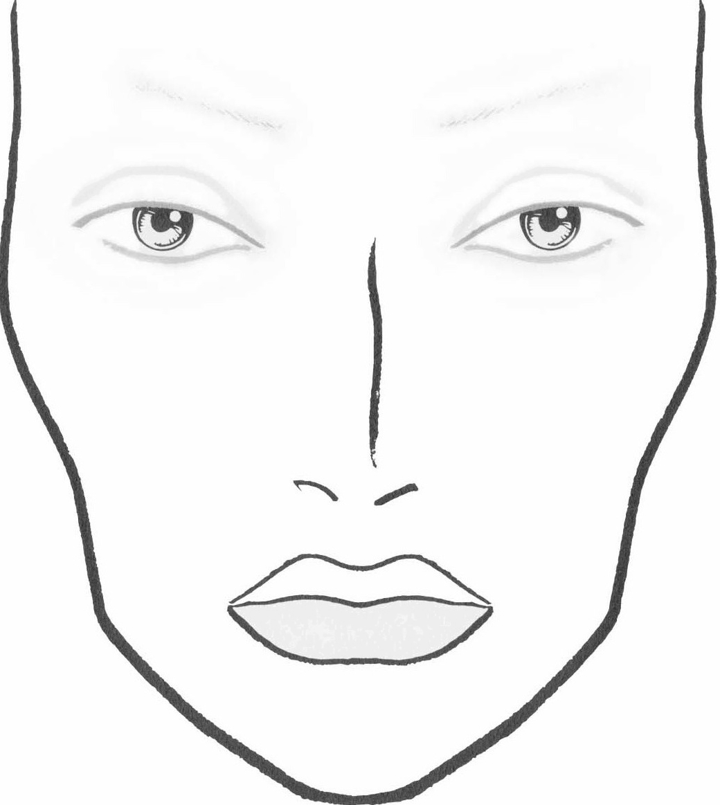 Face Outline For Makeup Images Pictures