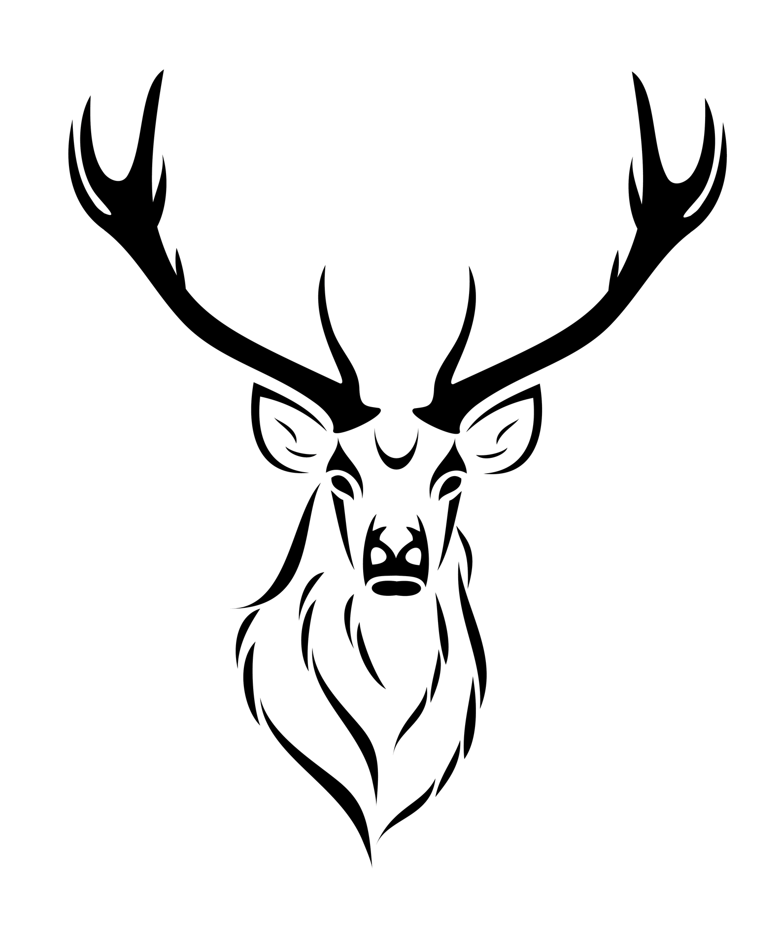 Free Tribal Deer Head Download Free Clip Art Free Clip