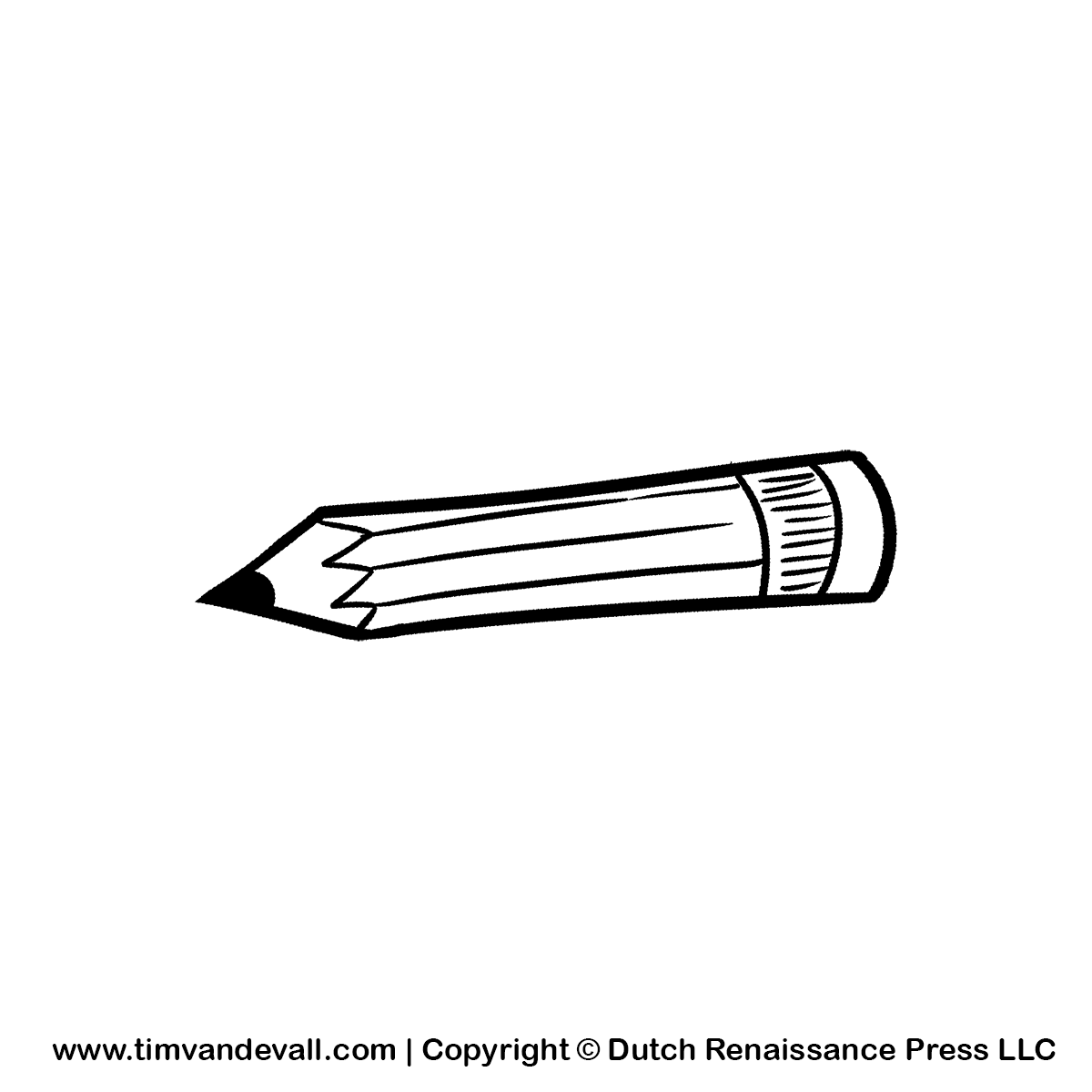 Cartoon Pencil Clipart For Kids