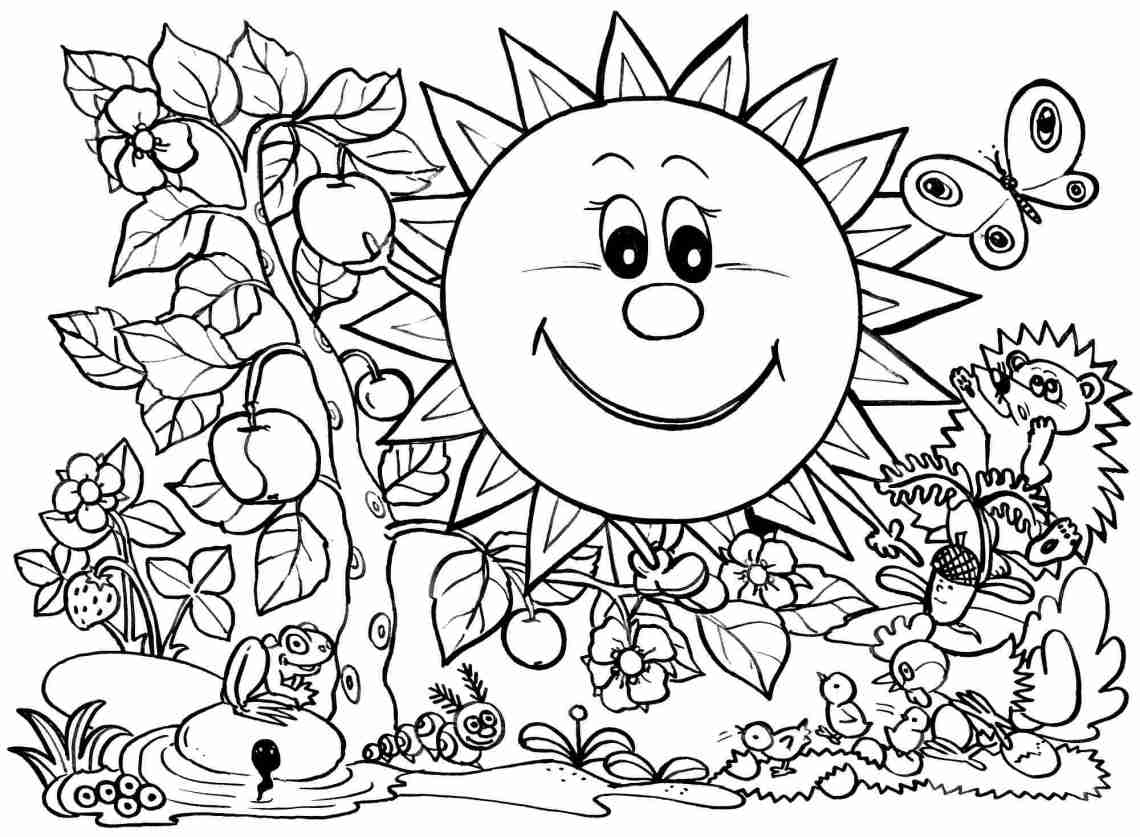 Printable Coloring pages spring #38818 spring coloring ... | free printable spring coloring pages