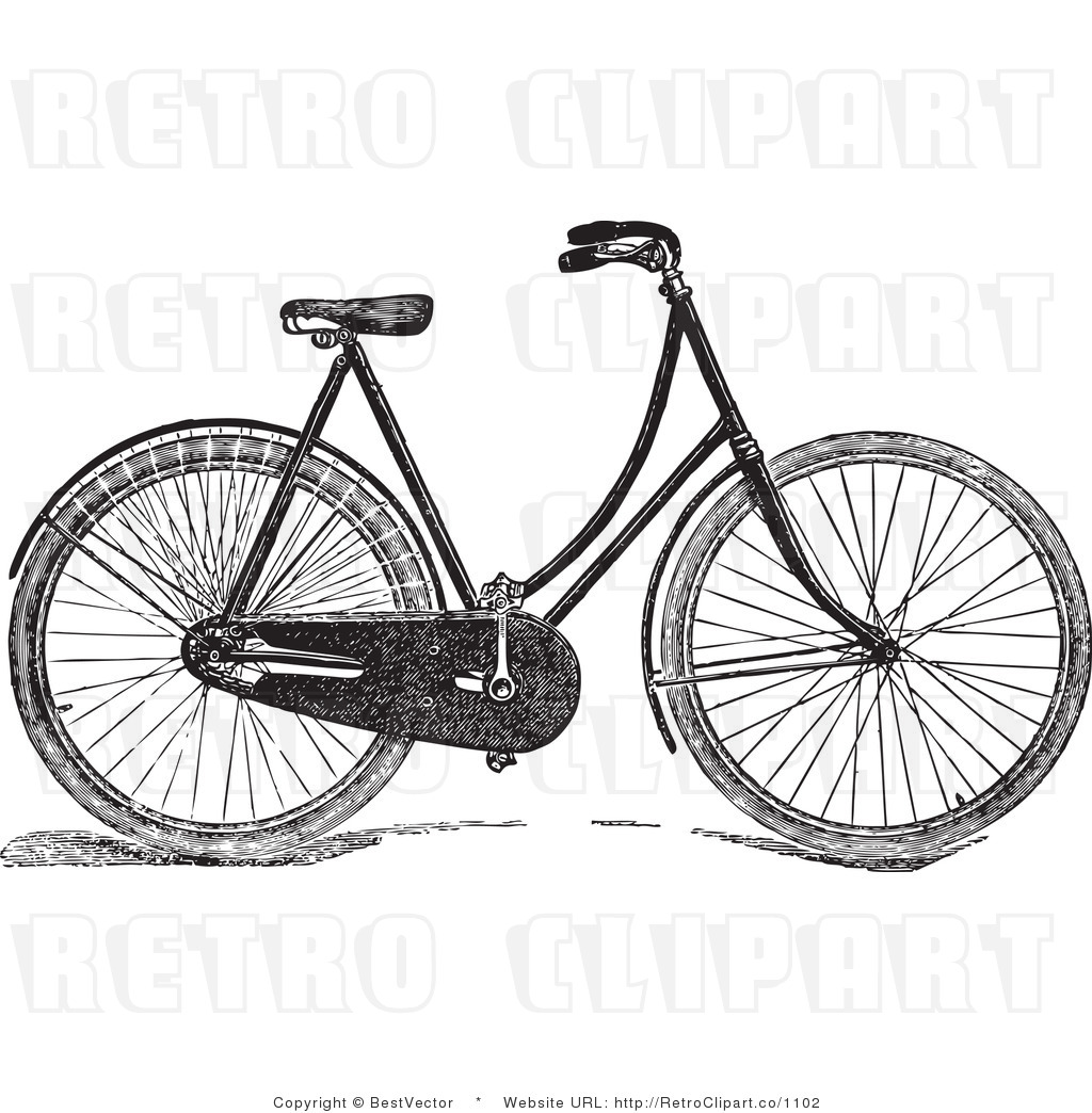Free Vintage Bicycle Free Vector Download Free Clip Art
