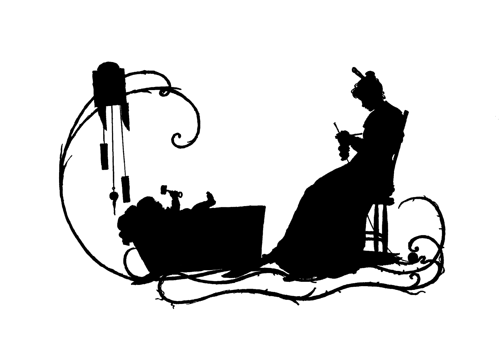 Antique Images Free Mother S Day Clip Art Victorian Silhouette