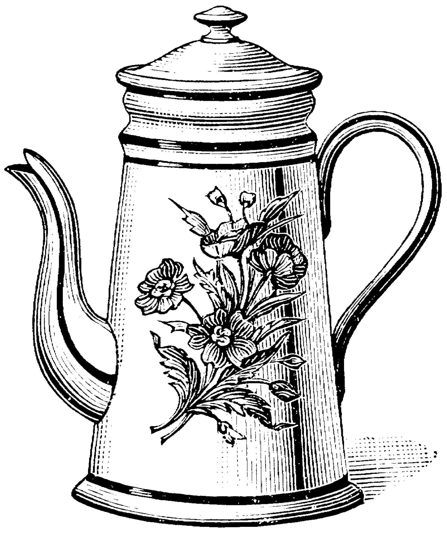 Free Teapot Coloring Book Download Free Clip Art Free