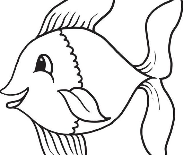 Cartoon Fish Coloring Pages Printable Cartoon Fish Coloring Page