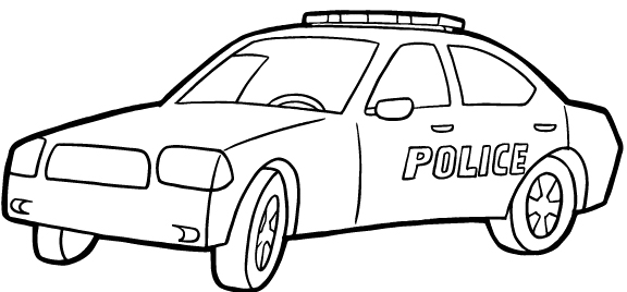 police car coloring page # 6