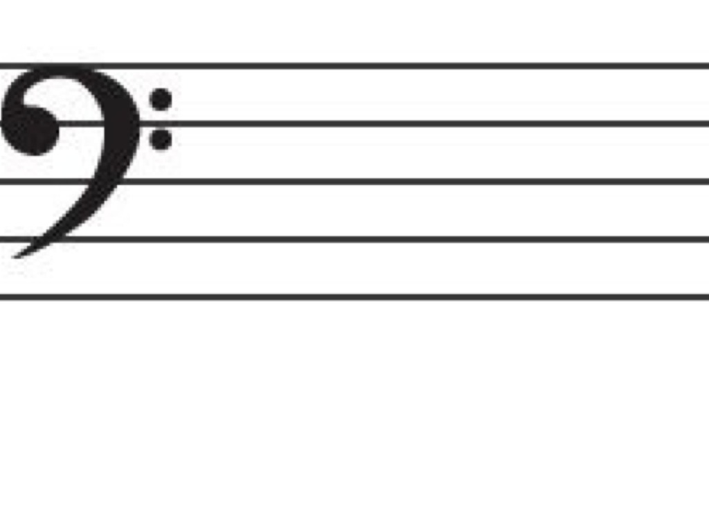 Letter Names For The Bass Clef Staff