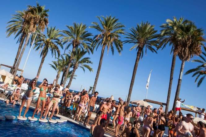 Pool Party Ibiza Jet Apartments Playa D En Bossa Clip Art Library